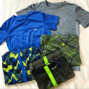 Champion Bundle of shirts and shorts S-M